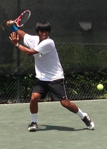 Assri Merzuki training at Elite Tennis Development, Bradenton, FL